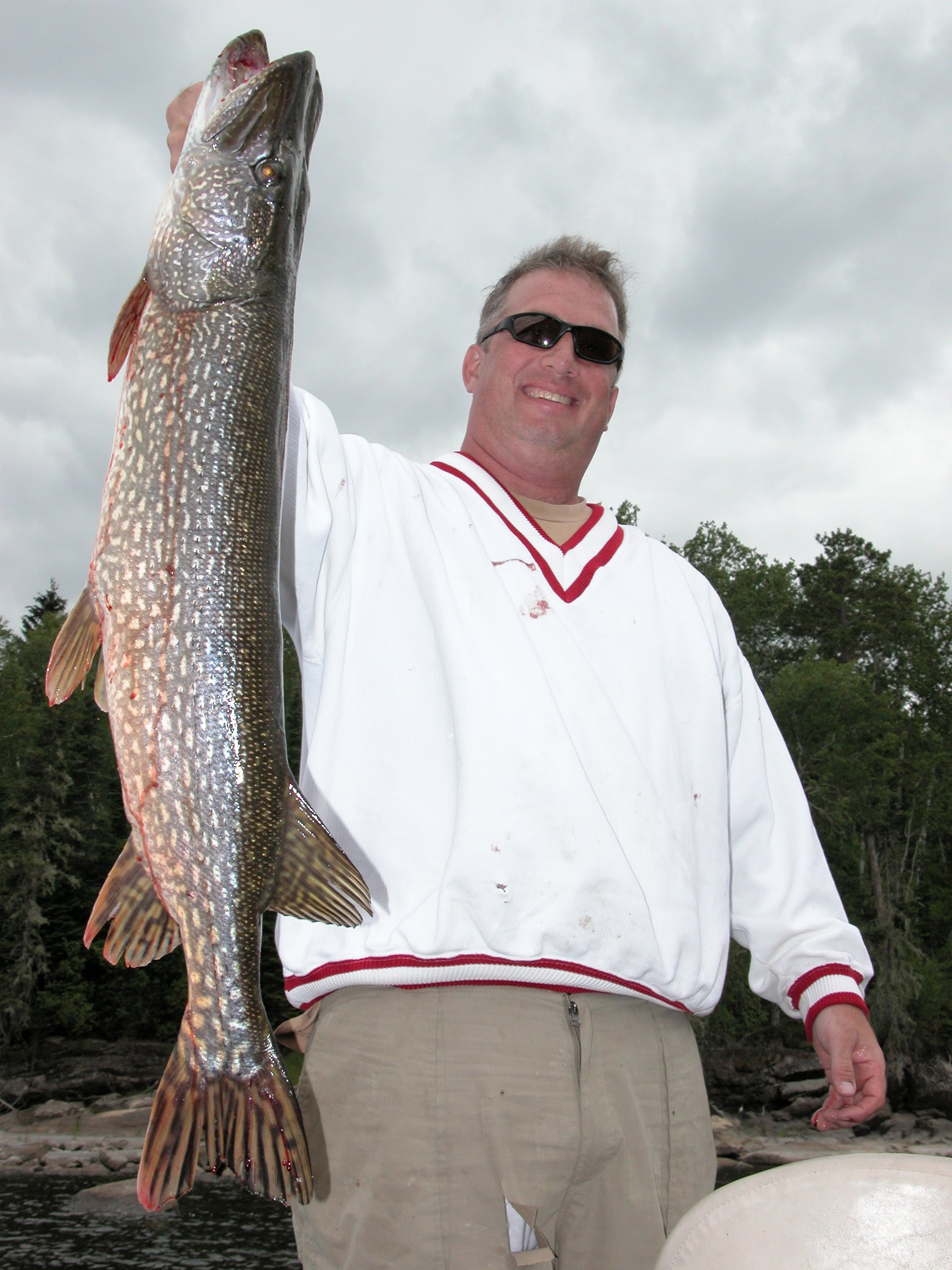 Northern Pike caught at Clay Lake, Northwinds Canadian Outfitters