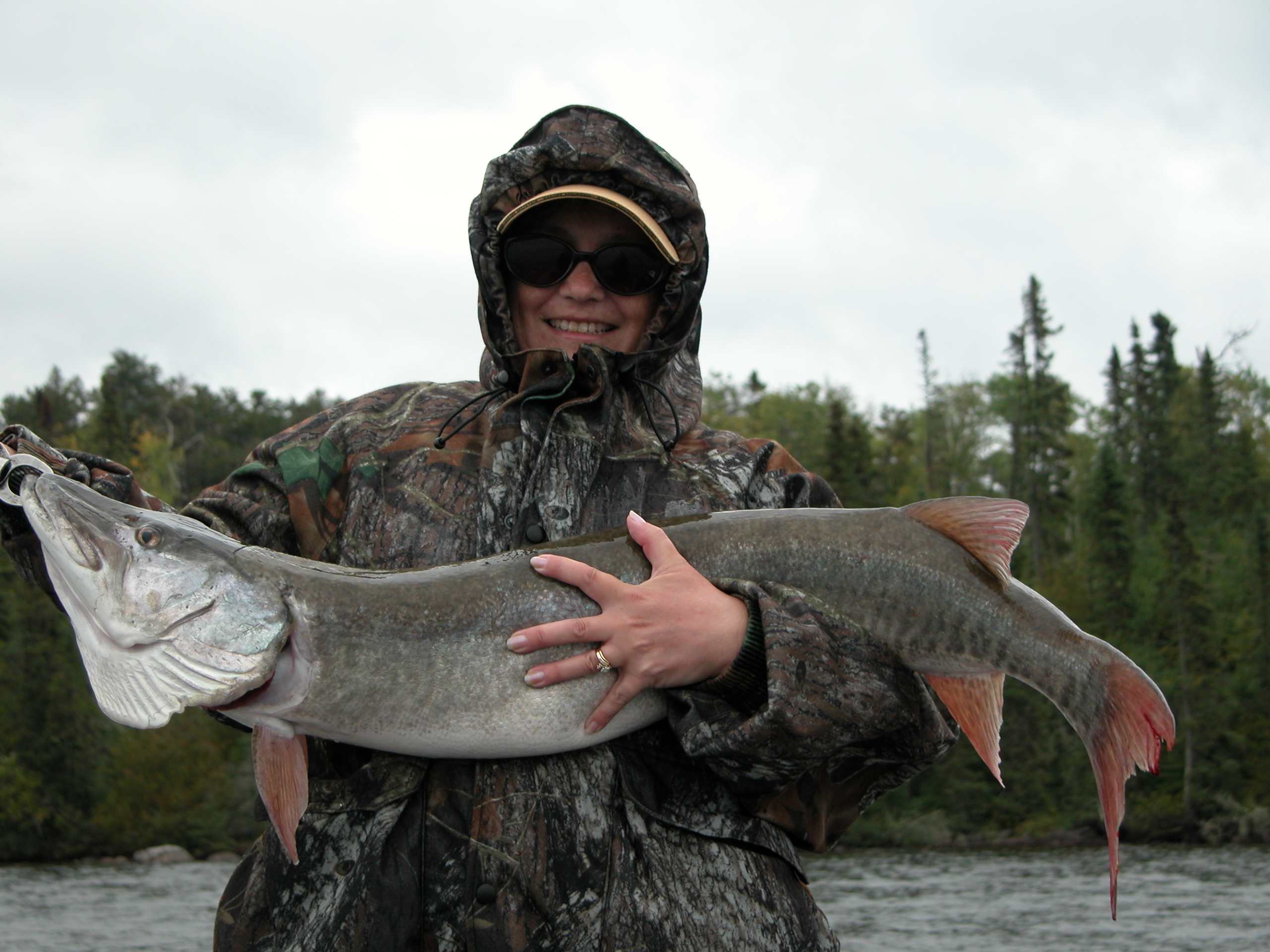 Nice Muskie caught on Cedar Lake, Northwinds Canadian Outfitters