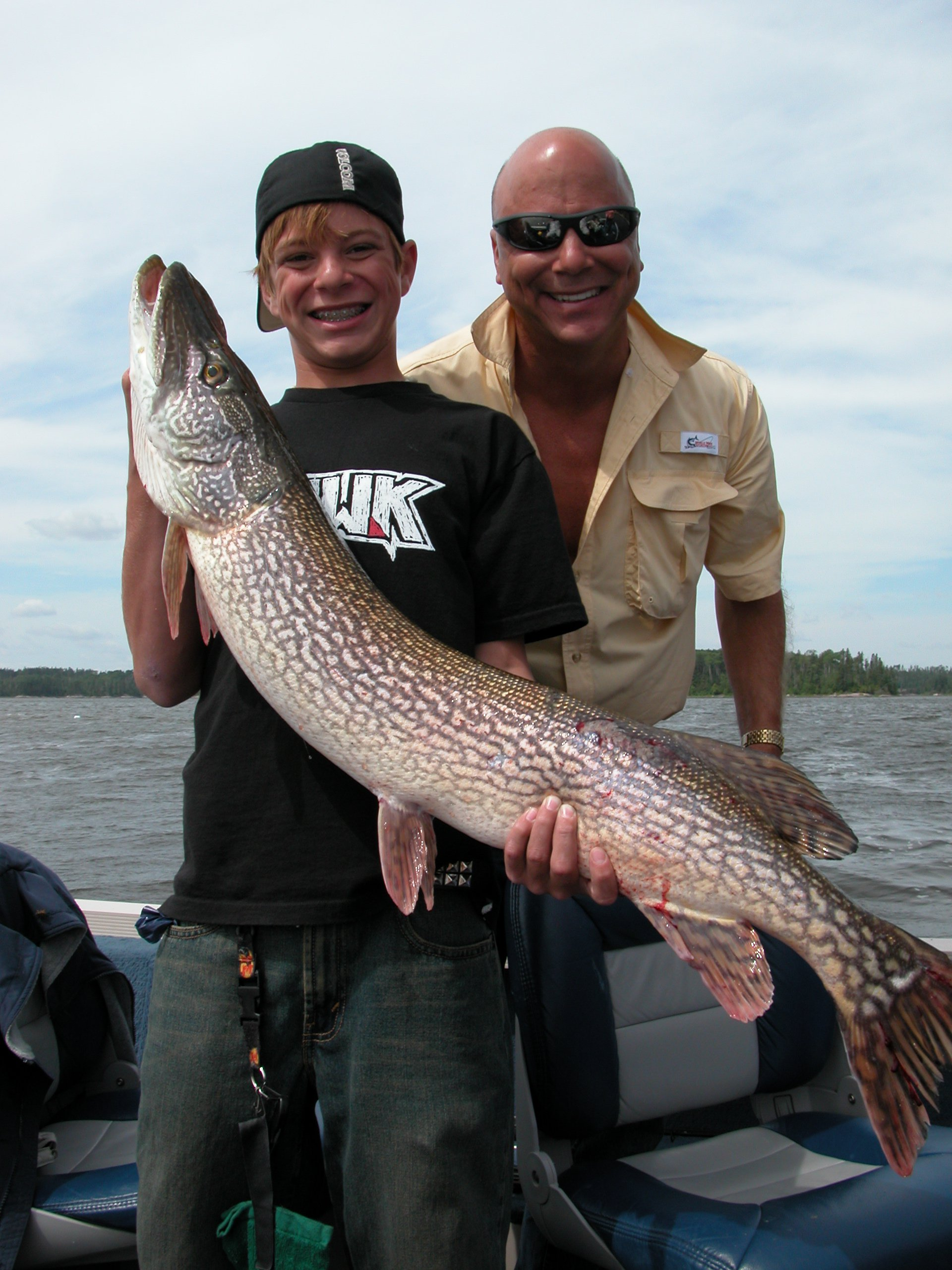 Big Northern Pike caught on Clay Lake 43 inches