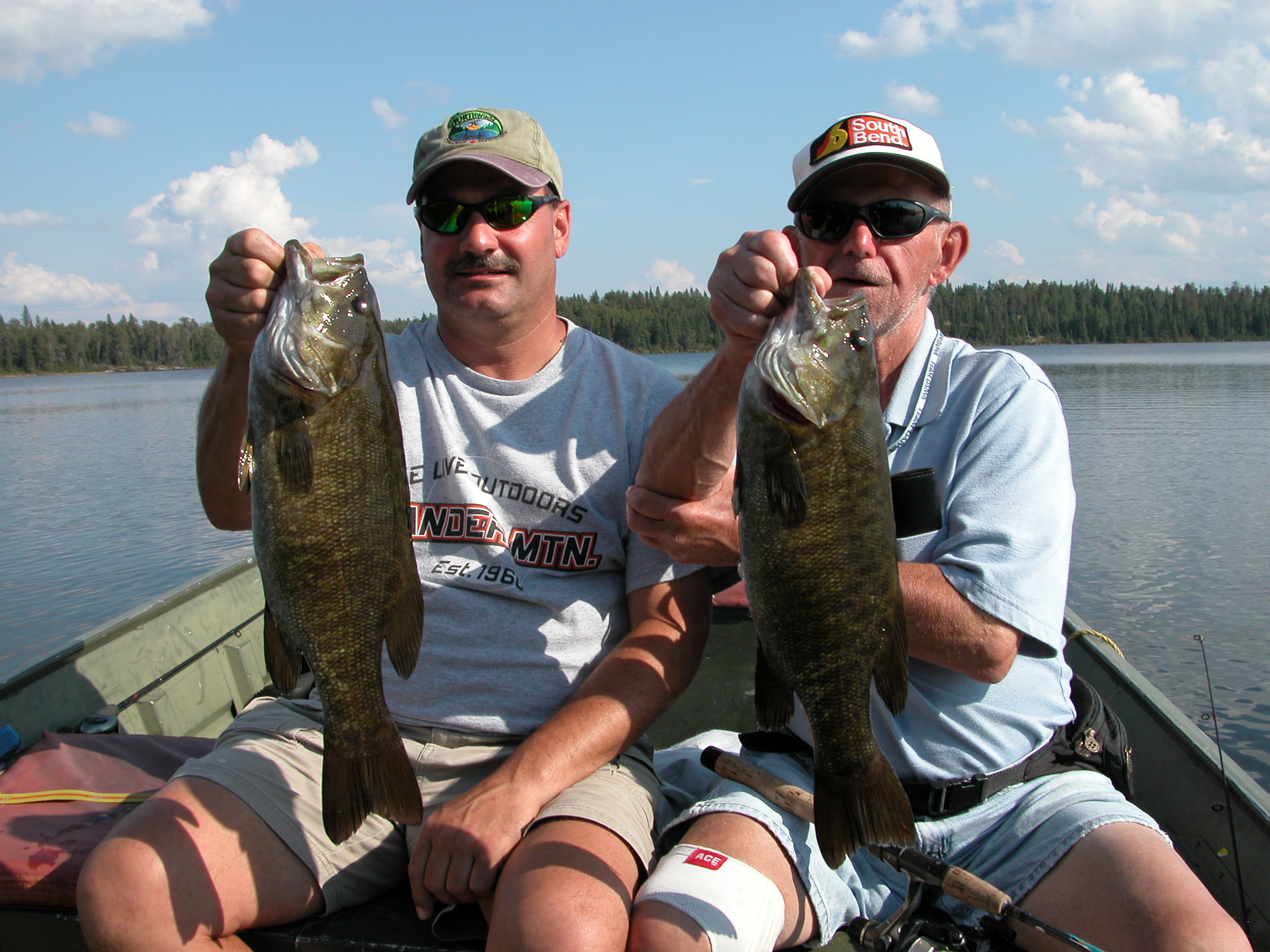Smallmouth Bass Cedar Lake, Caught at Northwinds Canadian Outfitters