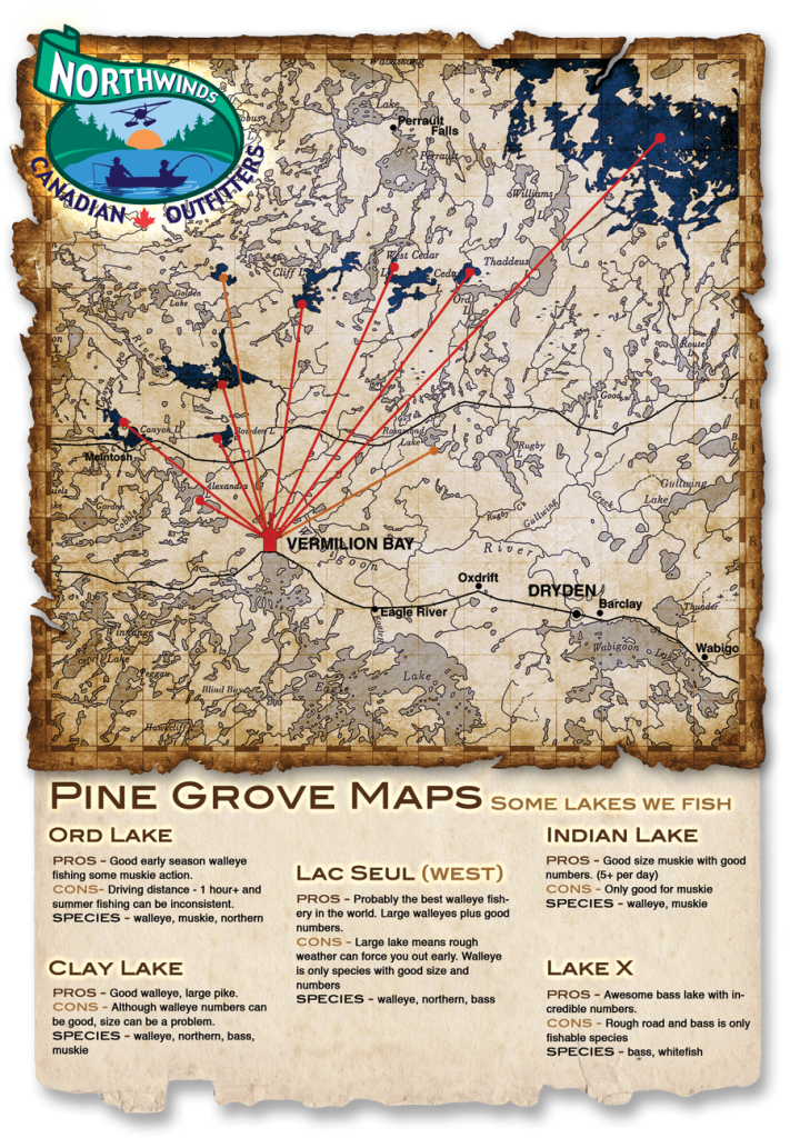 Pine Grove Maps - Some lakes we fish