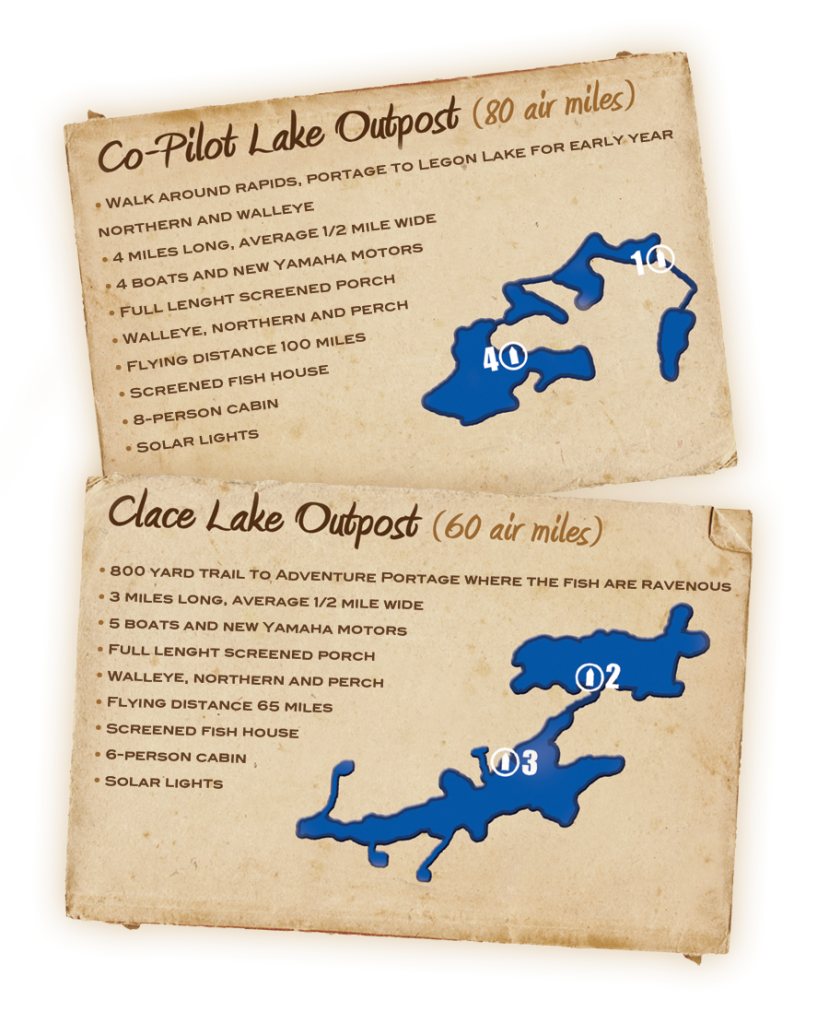 Clace Lake and Co-Pilot Lake Outpost Feature Cards